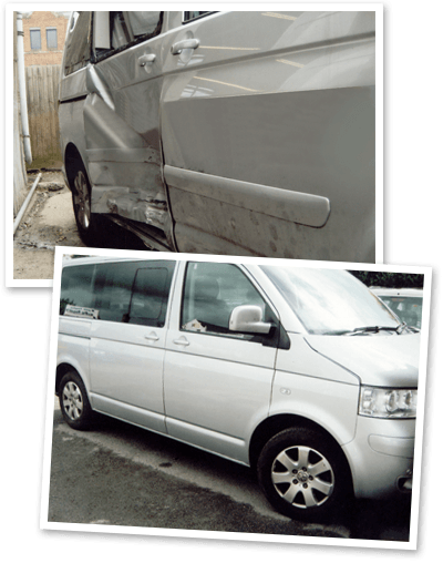 Before & After Bodywork Repairs at Ian Taylors Paint Shop